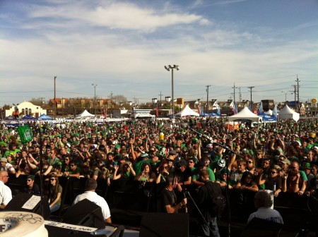 Crowd at St. Patty's show